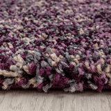 Hoogpolig lila gemeleerd vloerkleed Shaggy Queen 4500_