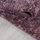 Hoogpolig pink gemeleerd vloerkleed Shaggy Queen 4500 _