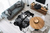 Vloerkleed Animal Imitatie Zwart Wit 225_