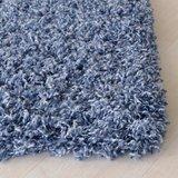 Hoogpolig vloerkleed Angy turquoise 160_