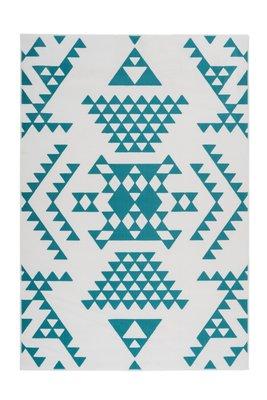 Vloerkleed Yesper Wit Turquoise 625
