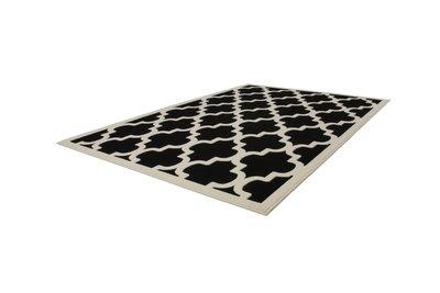 Zwart vintage modern vloerkleed Manoa