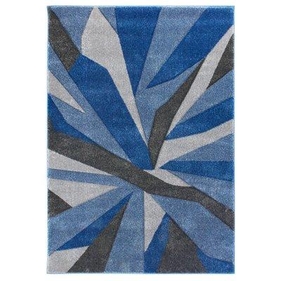 Modern vloerkleed Coridon Shatter kleur blauw grijs