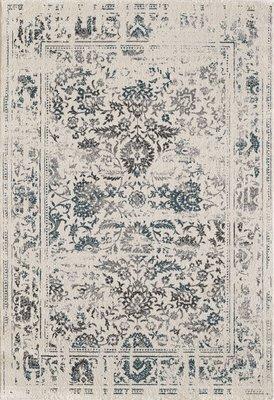 Retro vintage vloerkleed of karpet Borneo 1613 White