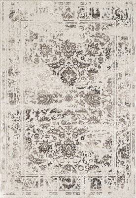 Vintage ecru vloerkleed Borneo 1613