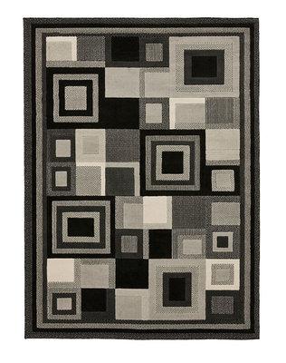 Action vloerkleed kleur zwart grijs 3222