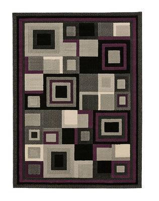 Action vloerkleed kleur zwart purple 3222
