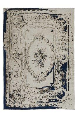 Vintage vloerkleed Sitra Grijs Blauw