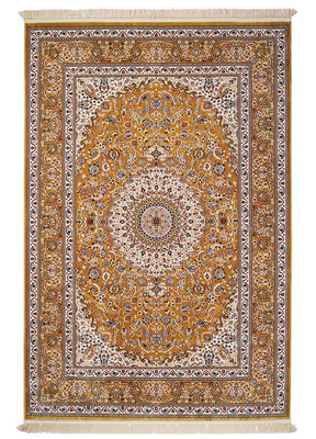 Klassiek vloerkleed Ibris kleur goud 0227A
