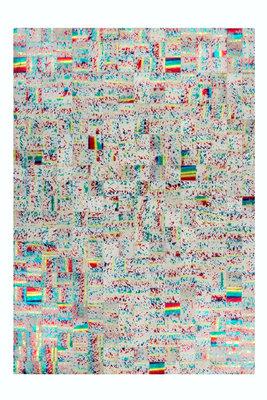 Lederen vloerkleed Roms Multicolor