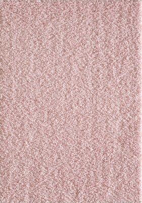 Roze hoogpolig vloerkleed of karpet Seram 1300