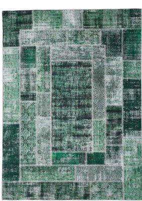 Vloerkleed Patch Plus kleur groen