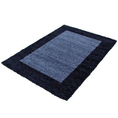 Blauwe hoogpolige vloerkleden Adriana Shaggy  1503/AY